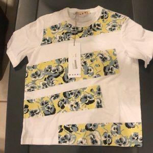 Marni Stripped Flower Shirt